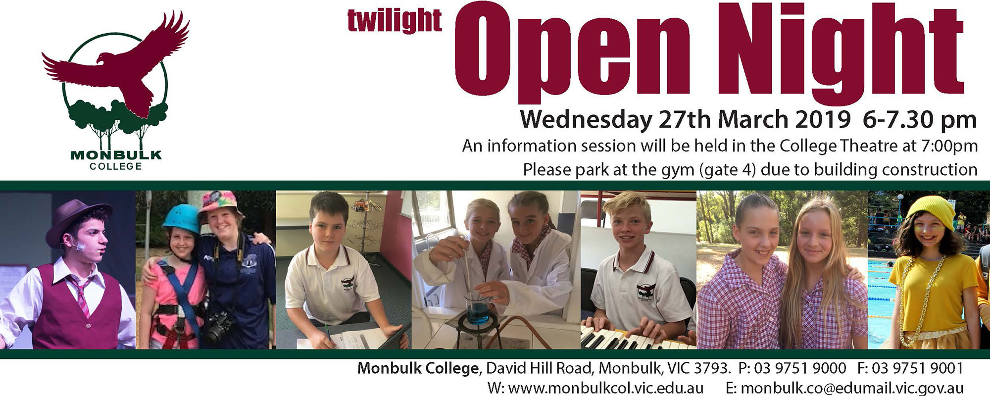 2019 Open Night 27 March